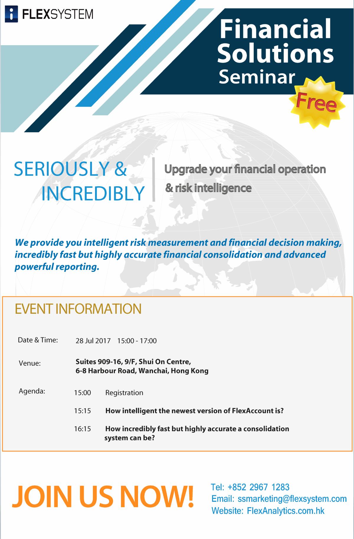 Financial Seminar info